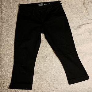 Levi Strauss Black Capri Pants Sz 12